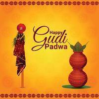 ilustración creativa de la feliz celebración de gudi padwa
