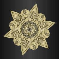 lujoso y elegante patrón circular en forma de mandala, adorno decorativo en estilo oriental, fondo de diseño de mandala ornamental vector gratuito