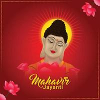 Mahavir jayanti celebration background vector