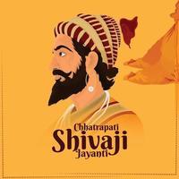 Creative vector illustration of shivaji jayanti