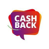Cashback loyalty program concept. Credit or debit card with returned coins to bank account. Refund money service design. Bonus cash back symbol vector illustration