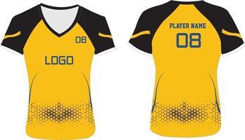 maquetas de camisetas de voleibol de mujer vector