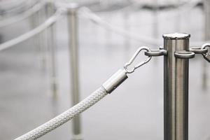 Detail of rope barriers photo