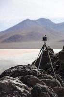 laguna colorada en bolivia foto
