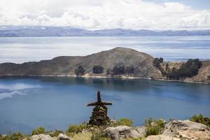 isla del sol en el lago titicaca foto