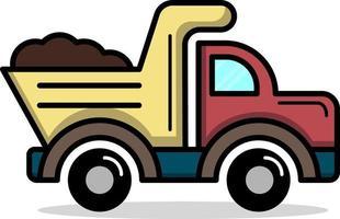 camión volquete lindo simple, perfecto para el diseño de la industria vector