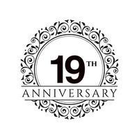 18 Year Anniversary Set Vector Template Design Illustration