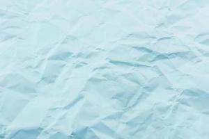 Crumpled blue paper