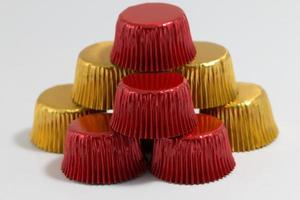 tazas para hornear de aluminio de colores foto