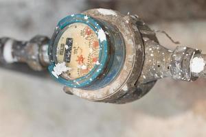 Medidor para tuberías de agua y metal en formato tailandia foto