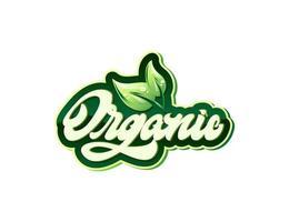 Organic Hand lettering logo. Handmade vector calligraphy logotype. Hand drawn word organic.