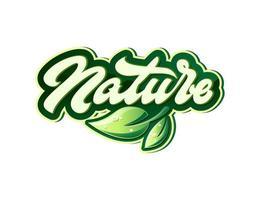 Natural Vector Lettering logo illustration.