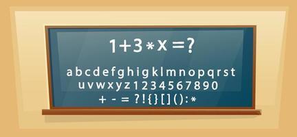 Dibujado a mano las letras del alfabeto dibujo con tiza blanca. vector