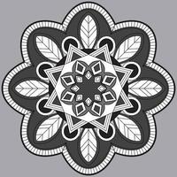 patrón circular en forma de mandala, adorno decorativo en estilo oriental, fondo de diseño de mandala ornamental vector gratuito