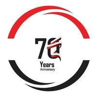years anniversary logotype with single line white black color for circle celebration