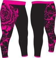 Sublimation Design Trousers Mock ups vector