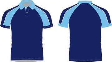 ilustraciones de polo shirt mock ups vector