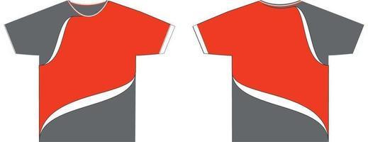 hombres camisas de cuello redondo mock ups vector