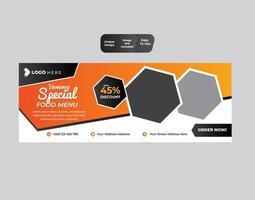 Unique fast food restaurant web banner  design template vector