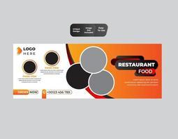 Food social media voucher banner design template vector