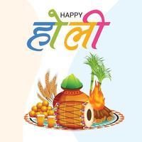 Ilustración vectorial de un colorido fondo promocional para la celebración del festival de colores holi. vector
