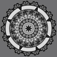 Circular floral Pattern In Form Of Mandala, Decorative Ornament In Oriental Style, Ornamental Mandala Design Background Free Vector