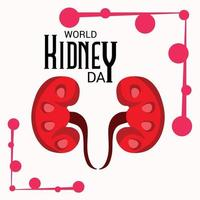 Vector illustration of a Background for World Kidney Day.