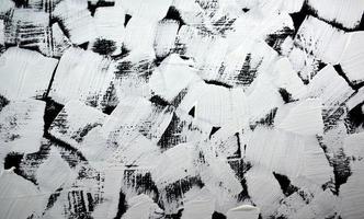 Fondo de pintura abstracta acrílica en blanco y negro