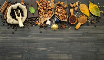 concepto de otoño y café foto