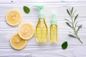 cuidado de la piel de limón