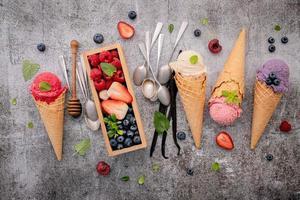 helado con sabor a fruta