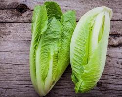 Lettuce on wood