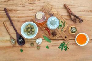 Assortment of herbs photo