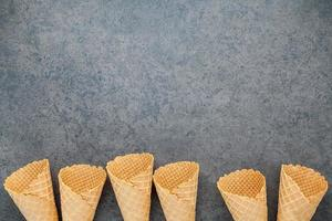 Waffle cones with copy space