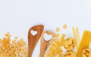 Wood utensils and pasta
