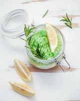 Facial scrub in a jar photo