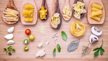 Pastas with Italian ingredients photo