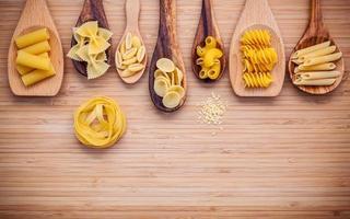 Pastas in spoons