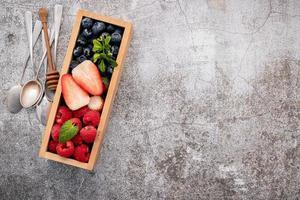 Fresh berries in a box