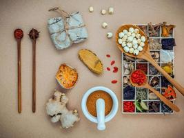 Herbal medicine concept