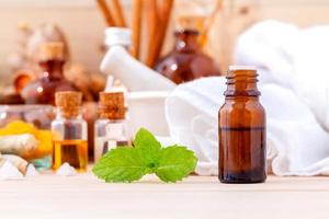 Natural spa treatment on a table