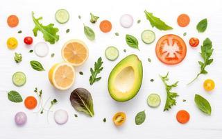 patrón de comida saludable
