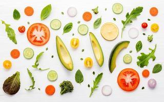 patrón de comida fresca foto
