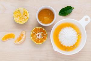 Orange fruit and juice photo