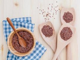 Top view of flaxseed photo