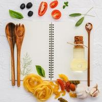 Spiral notebook with Italian ingredients