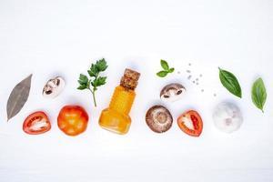 concepto de comida italiana foto