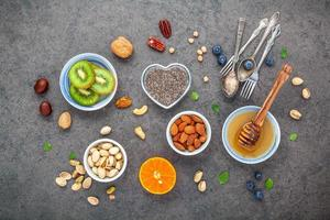 desayuno saludable vista superior