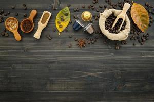 concepto de café tostado
