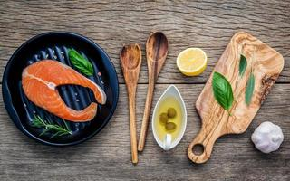 Fresh salmon dish